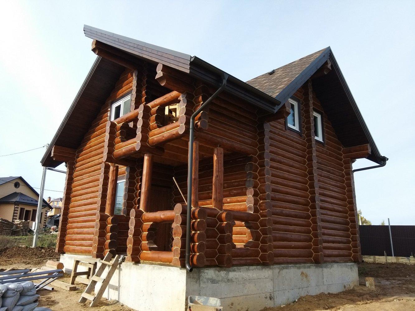 Закончилось строительство дома в деревне Удино