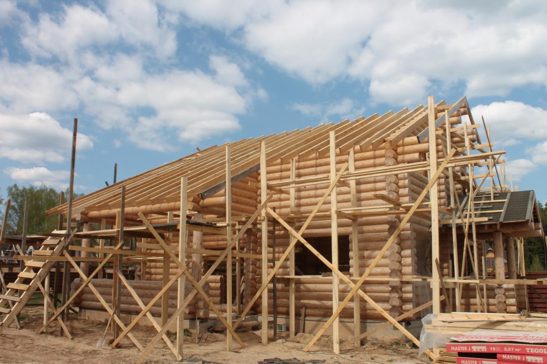 Начало отделки дом Лужайкино